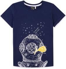 T-shirt z kontrastowym wykończeniem dla chłopca 9-13 lat C71G646_1