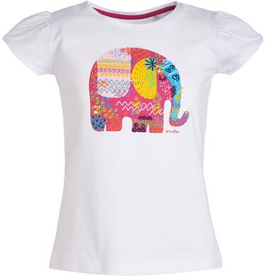 Endo - Bluzka z krótkim rękawem dla dziewczynki 3-8 lat D81G019_1