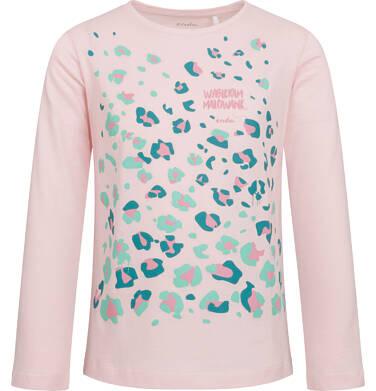Endo - Bluzka dla dziewczynki z długim rękawem, kolorowy deseń, 2-8 lat D04G025_2 80