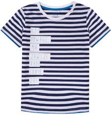 T-shirt z kontrastowym wykończeniem dla chłopca 9-13 lat C71G647_1
