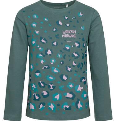 Endo - Bluzka dla dziewczynki z długim rękawem, kolorowy deseń, 9-13 lat D04G033_1,1