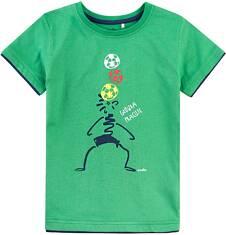 T-shirt z kontrastowym wykończeniem dla chłopca 9-13 lat C71G580_1
