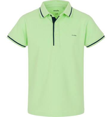 Endo - T-shirt polo z krótkim rękawem dla chłopca 9-13 lat C91G553_1
