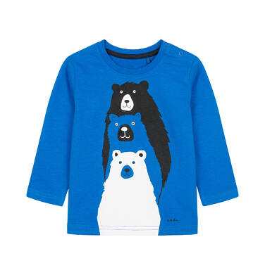 T-shirt z długim rękawem dla dziecka 0-3 lata N92G017_1
