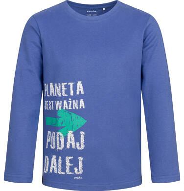 Endo - T-shirt z długim rękawem dla chłopca, niebieski, 9-13 lat C04G071_1 12