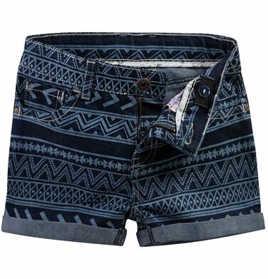Endo - Szorty jeansowe we wzorzysty deseń dla dziewczynki D51K004_1