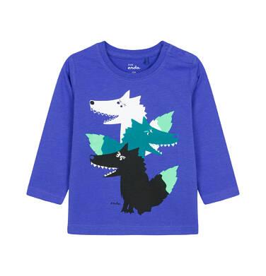 T-shirt z długim rękawem dla dziecka 0-3 lata N92G018_1