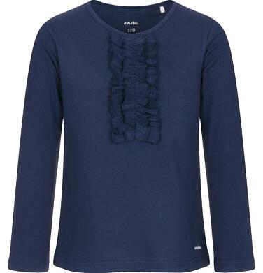 Endo - Bluzka z długim rękawem dla dziewczynki, z falbankami, granatowa, 9-13 lat D92G505_2 167