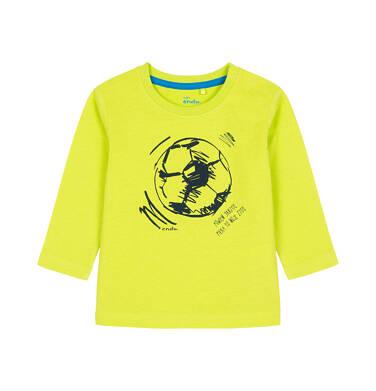 Endo - T-shirt dla dziecka do 3 lat, piłka to moje życie, jaskrawozielony N92G031_1