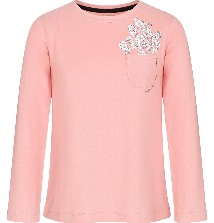 Endo - Bluzka z długim rękawem dla dziewczynki, z kieszonką, różowa, 3-8 lat D92G007_1