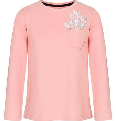 Endo - Bluzka z długim rękawem dla dziewczynki, z kieszonką, różowa, 3-8 lat D92G007_1,1