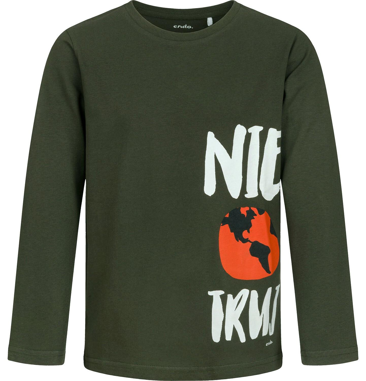 Endo - T-shirt z długim rękawem dla chłopca, ciemnozielony, 9-13 lat C04G090_1