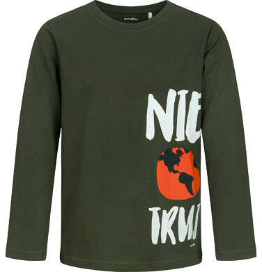 Endo - T-shirt z długim rękawem dla chłopca, ciemnozielony, 9-13 lat C04G090_1 2
