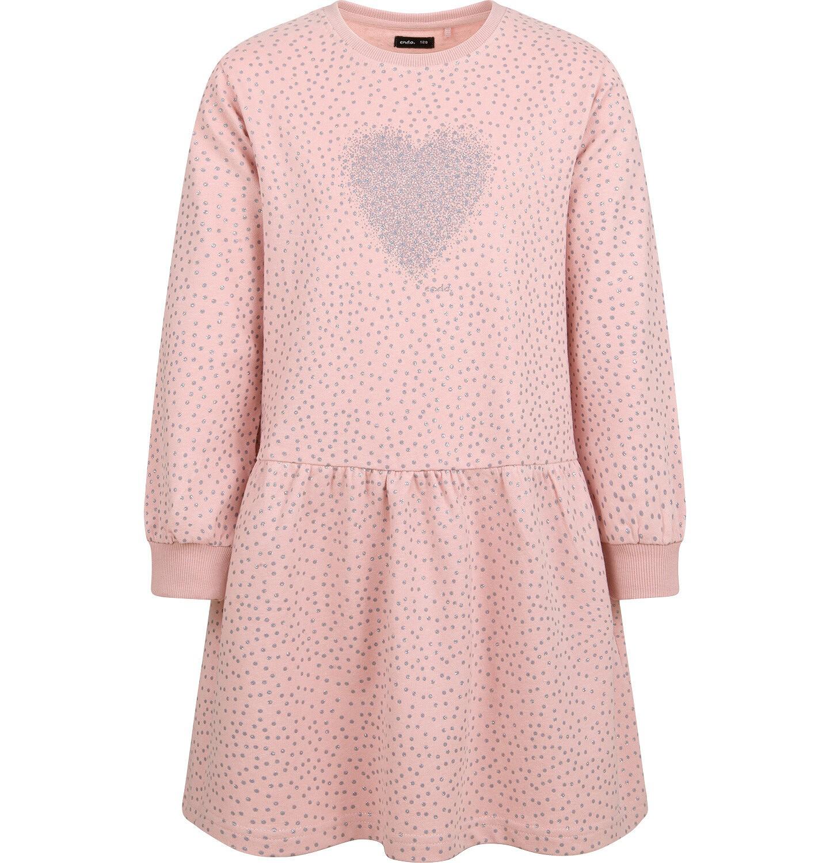 Endo - Sukienka z długim rękawem, z sercem, różowa, 2-8 lat D04H030_1