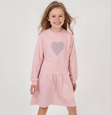 Endo - Sukienka z długim rękawem, z sercem, różowa, 2-8 lat D04H030_1 7