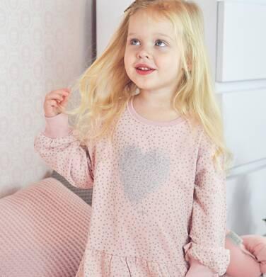 Endo - Sukienka z długim rękawem, z sercem, różowa, 2-8 lat D04H030_1 1