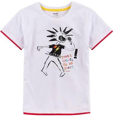 Endo - T-shirt z kontrastowym wykończeniem dla chłopca 4-8 lat C71G096_1