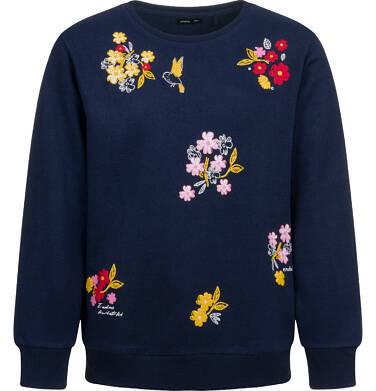 Bluza dla dziewczynki, kwiatowy motyw, granatowa, 9-13 lat D04C062_1