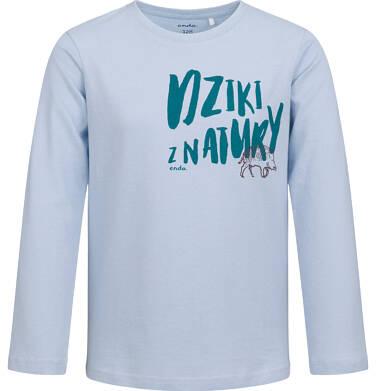 Endo - T-shirt z długim rękawem dla chłopca, niebieski, 2-8 lat C04G094_1 17