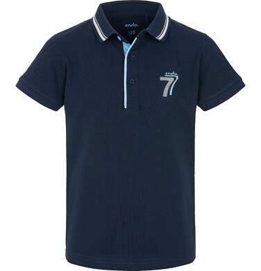 Endo - T-shirt polo z krótkim rekawem dla chłopca 9-13 lat C91G556_1