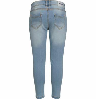 Endo - Spodnie jeansowe dla dziewczynki, jasnoniebieskie, 2-8 lat D03K028_1 17