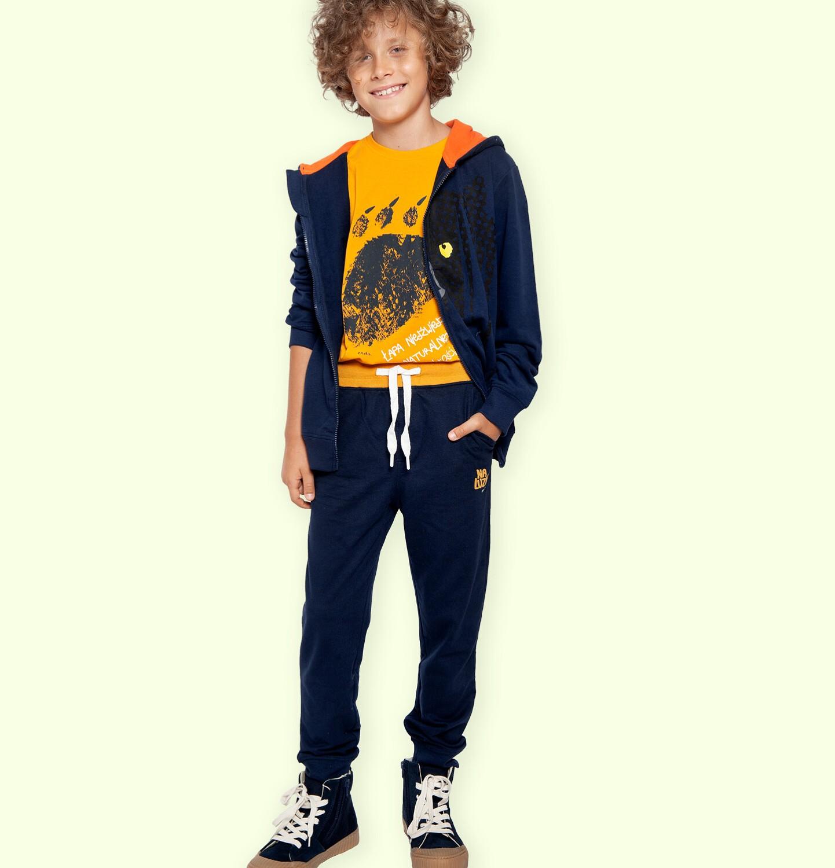Endo - Spodnie dresowe dla chłopca, granatowe, 9-13 lat C05K017_3