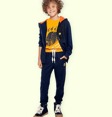 Endo - Spodnie dresowe dla chłopca, granatowe, 9-13 lat C05K017_3 25