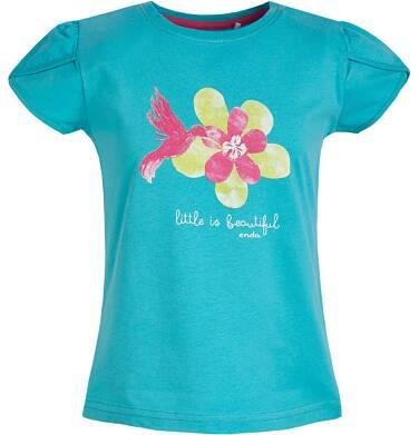 Endo - Bluzka z krótkim rękawem dla dziewczynki 3-8 lat D81G131_1