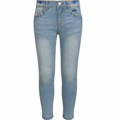 Spodnie jeansowe dla dziewczynki, jasnoniebieskie, 9-13 lat D03K528_1