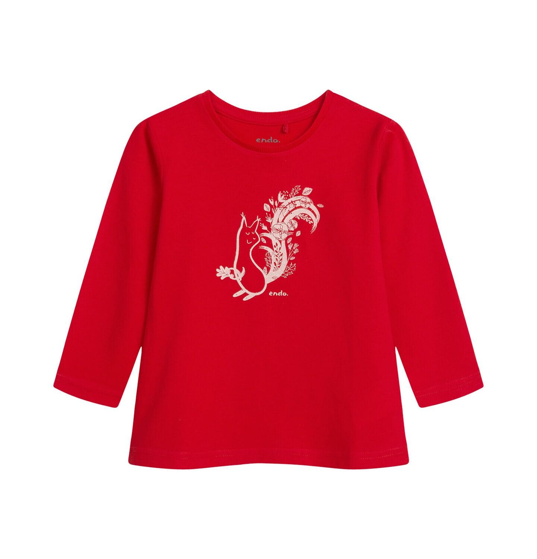 Endo - Bluzka dla dziecka do 2 lat, czerwona N04G032_1