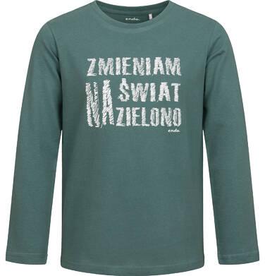 Endo - T-shirt z długim rękawem dla chłopca, zielony, 2-8 lat C04G098_1 29
