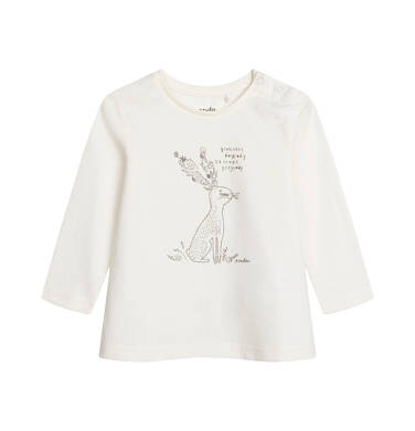 Endo - Bluzka dla dziecka do 2 lat, kremowa N04G033_1 162