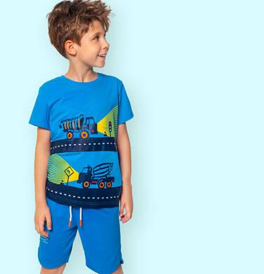 Endo - Krótkie spodenki dla chłopca, z napisem na nogawce, niebieskie, 3-8 lat C06K016_1 16