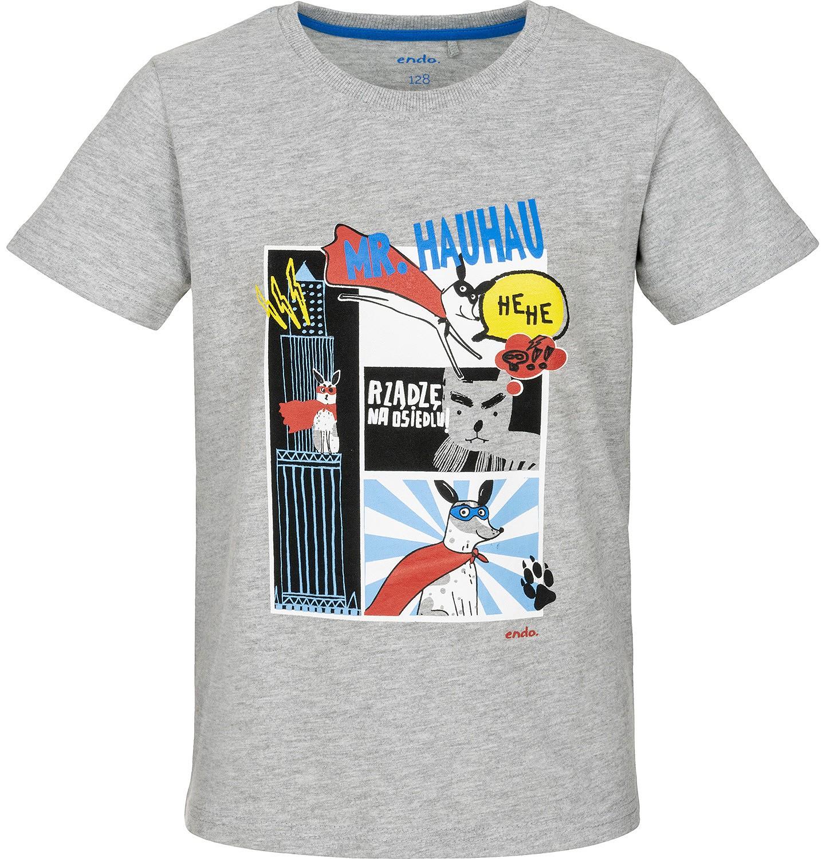 Chłodny T-shirt z krótkim rękawem dla chłopca 3-8 lat   Z krótkim r   Endo NZ82