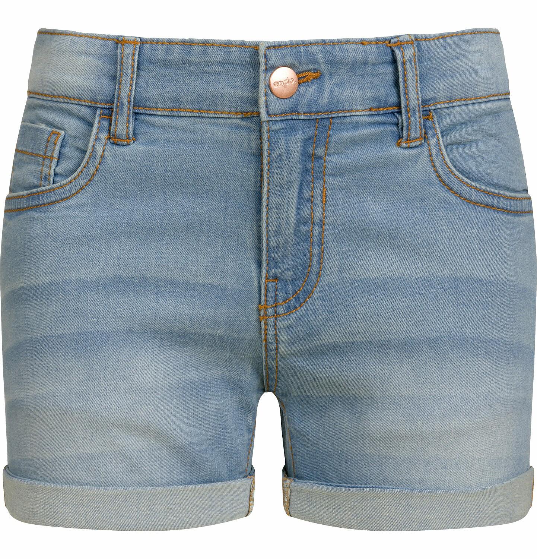 Endo - Krótkie spodenki jeansowe dla dziewczynki, jasnoniebieskie, 2-8 lat D03K029_1