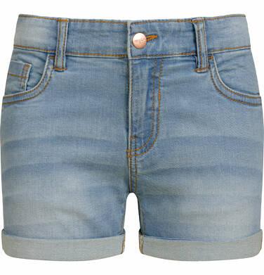 Krótkie spodenki jeansowe dla dziewczynki, jasnoniebieskie, 2-8 lat D03K029_1