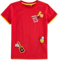 T-shirt z kontrastowym wykończeniem dla chłopca 4-8 lat C71G101_1