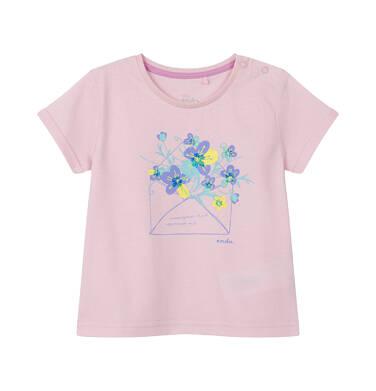 Endo - Bluzka dla dziecka do 2 lat, kwiatowy motyw, różowa N03G042_1 31