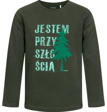 Endo - T-shirt z długim rękawem dla chłopca, leśny motyw, 2-8 lat C04G114_1 31