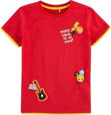 T-shirt z kontrastowym wykończeniem dla chłopca 9-13 lat C71G601_1