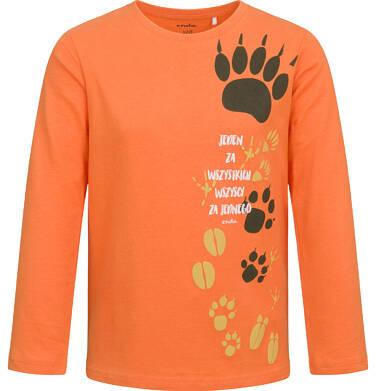 Endo - T-shirt z długim rękawem dla chłopca, z łapkami, pomarańczowy, 2-8 lat C04G115_1 30