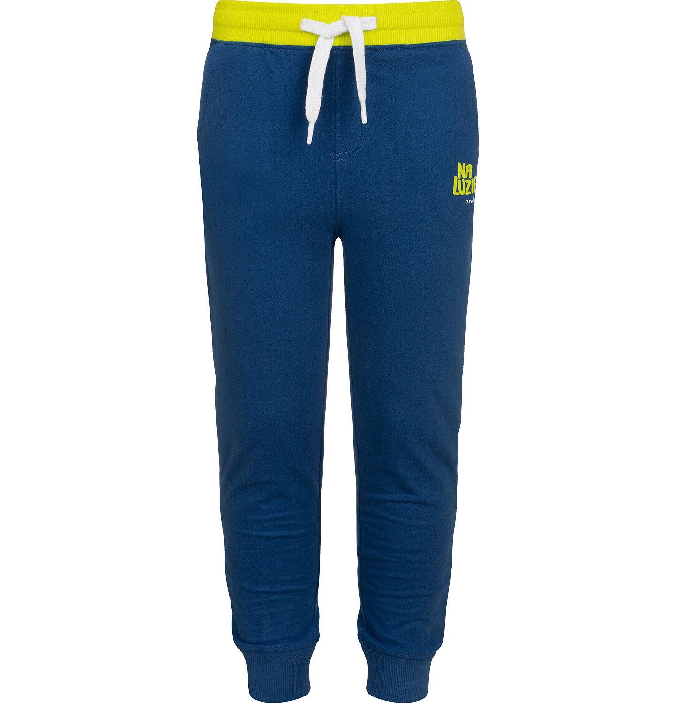 Endo - Spodnie dresowe dla chłopca, niebieskie z zielonymi akcentami, 2-8 lat C05K024_4