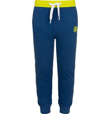 Endo - Spodnie dresowe dla chłopca, niebieskie z zielonymi akcentami, 2-8 lat C05K024_4,1