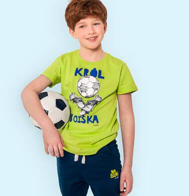 Endo - Spodnie dresowe dla chłopca, niebieskie z zielonymi akcentami, 2-8 lat C05K024_4,2