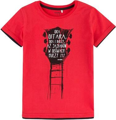 Endo - T-shirt z kontrastowym wykończeniem dla chłopca 4-8 lat C71G103_1