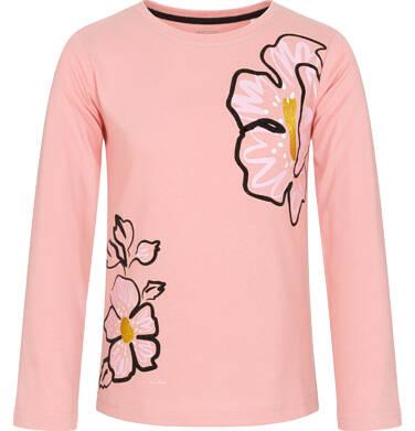 Endo - Bluzka z długim rękawem dla dziewczynki, kwiatowy nadruk, kremowo-różowa, 9-13 lat D92G510_2 272