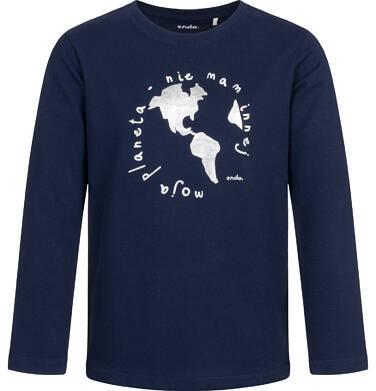 Endo - T-shirt z długim rękawem dla chłopca, ciemnogranatowy, 2-8 lat C04G154_1 29