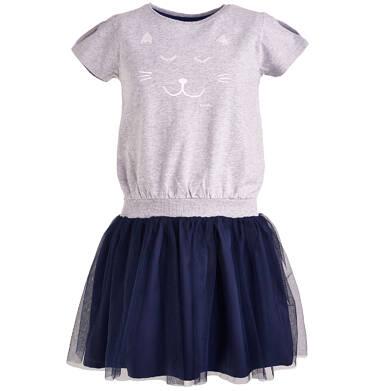 Endo - Sukienka z tiulowym dołem dla dziewczynki 3-8 lat D81H024_1