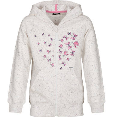 Bluza rozpinana z kapturem dla dziewczynki 3-8 lat D91C022_1