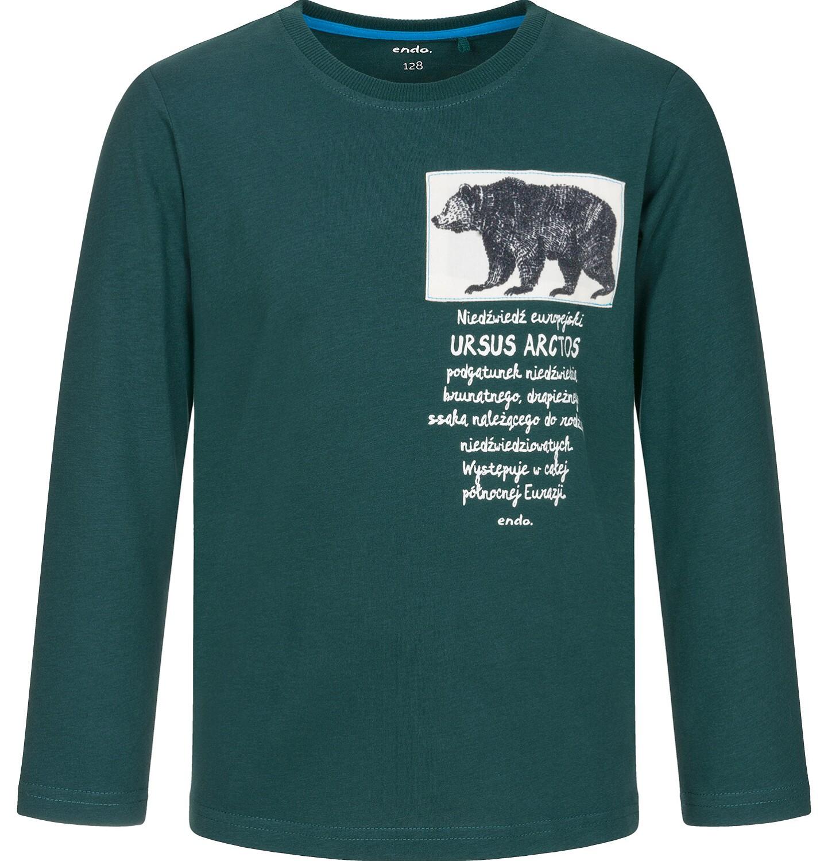 Endo - T-shirt z długim rękawem dla chłopca 9-13 lat C92G545_1